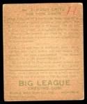 1933 World Wide Gum #3  Hugh Critz  Back Thumbnail