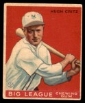 1933 World Wide Gum #3  Hugh Critz  Front Thumbnail