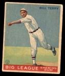 1933 World Wide Gum #20  Bill Terry    Front Thumbnail