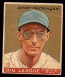 1933 World Wide Gum #87  Danny MacFayden    Front Thumbnail