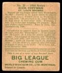 1934 World Wide Gum #23  Richard Coffman  Back Thumbnail