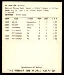1964 Kahn's  Alvin McBean  Back Thumbnail