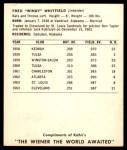 1964 Kahn's  Fred Whitfield  Back Thumbnail