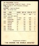 1964 Kahn's  Jim Pagliaroni  Back Thumbnail