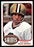 1976 Topps #485  Archie Manning  Front Thumbnail