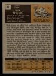 1971 Topps #32  Rick Volk  Back Thumbnail