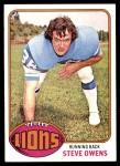 1976 Topps #508  Steve Owens  Front Thumbnail