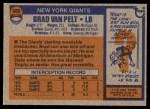 1976 Topps #509  Brad Van Pelt   Back Thumbnail