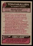 1977 Topps #483  Tom Mullen  Back Thumbnail