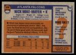 1976 Topps #506  Nick Mike-Mayer  Back Thumbnail