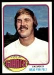 1976 Topps #509  Brad Van Pelt   Front Thumbnail