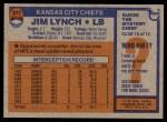1976 Topps #517  Jim Lynch  Back Thumbnail