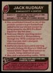 1977 Topps #487  Jack Rudnay  Back Thumbnail