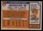 1976 Topps #493  Jim Bertelsen  Back Thumbnail