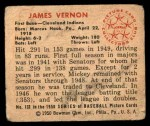 1950 Bowman #132  Mickey Vernon  Back Thumbnail