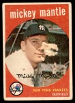 1959 Topps #10  Mickey Mantle  Front Thumbnail