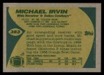 1989 Topps #383  Michael Irvin  Back Thumbnail