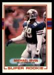 1989 Topps #383  Michael Irvin  Front Thumbnail