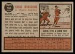 1962 Topps #504  Eddie Bressoud  Back Thumbnail