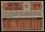 1972 Topps #772  Ken Tatum  Back Thumbnail