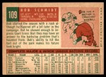 1959 Topps #109  Bob Schmidt  Back Thumbnail
