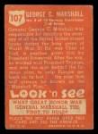 1952 Topps Look 'N See #107  George Marshall  Back Thumbnail