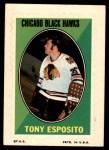 1970 Topps O-Pee-Chee Sticker Stamps #7  Tony Esposito  Front Thumbnail