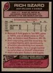 1977 Topps #182  Rich Szaro  Back Thumbnail