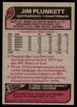 1977 Topps #331  Jim Plunkett  Back Thumbnail