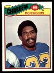 1977 Topps #248  Don Woods  Front Thumbnail