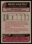 1977 Topps #175  Brad Van Pelt  Back Thumbnail