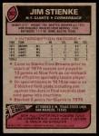 1977 Topps #302  Jim Stienke  Back Thumbnail