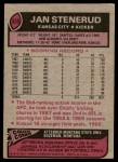 1977 Topps #335  Jan Stenerud  Back Thumbnail
