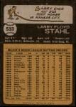 1973 Topps #533  Larry Stahl  Back Thumbnail