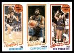1980 Topps   -  John Roche / Clifford Ray / Ben Poquette 74 / 99 / 235 Front Thumbnail