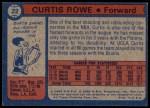 1974 Topps #22  Curtis Rowe  Back Thumbnail