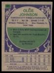 1975 Topps #51  Ollie Johnson  Back Thumbnail