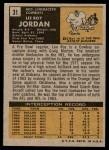 1971 Topps #31  Lee Roy Jordan  Back Thumbnail