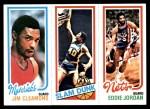 1980 Topps   -  Jim Cleamons / James Edwards / Eddie Jordan 63 / 261 / 157 Front Thumbnail