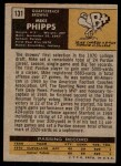1971 Topps #131  Mike Phipps  Back Thumbnail