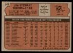 1972 Topps #747  Jim Stewart  Back Thumbnail