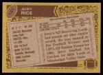 1986 Topps #161  Jerry Rice  Back Thumbnail