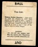 1936 Goudey  Rollie Hemsley  Back Thumbnail