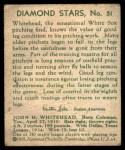 1935 Diamond Stars #51  Burgess Whitehead  Back Thumbnail