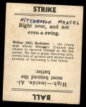 1936 Goudey  Bill Brubaker  Back Thumbnail