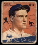1934 Goudey #22  Floyd Vaughan  Front Thumbnail