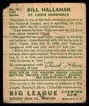1934 Goudey #82  Bill Hallahan  Back Thumbnail