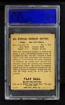 1941 Play Ball #20  Red Ruffing  Back Thumbnail