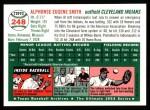 1954 Topps Archives #248  Al Smith  Back Thumbnail