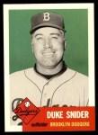 1953 Topps Archives #327  Duke Snider  Front Thumbnail
